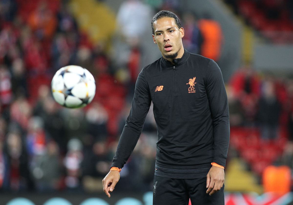 Virgil van Dijk of Liverpool warms up prior to the UEFA Champions League match against FC Porto at Anfield, Liverpool. Picture by Michael Sedgwick/Focus Images Ltd +44 7900 363072 06/03/2018