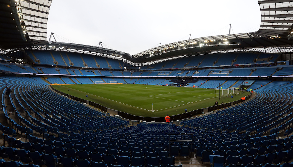A general view of the Etihad Stadium prior to the Premier League match at the Etihad Stadium, Manchester Picture by Simon Moore/Focus Images Ltd 07807 671782 23/12/2017