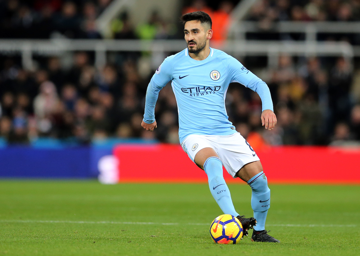 Ilkay Gundogan of Manchester City during the Premier League match at St. James's Park, Newcastle Picture by Simon Moore/Focus Images Ltd 07807 671782 27/12/2017
