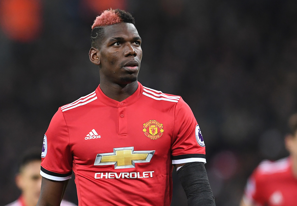 Paul Pogba of Manchester United during the Premier League match against Tottenham Hotspur at Wembley Stadium, London Picture by Andrew Timms/Focus Images Ltd +44 7917 236526 31/01/2018