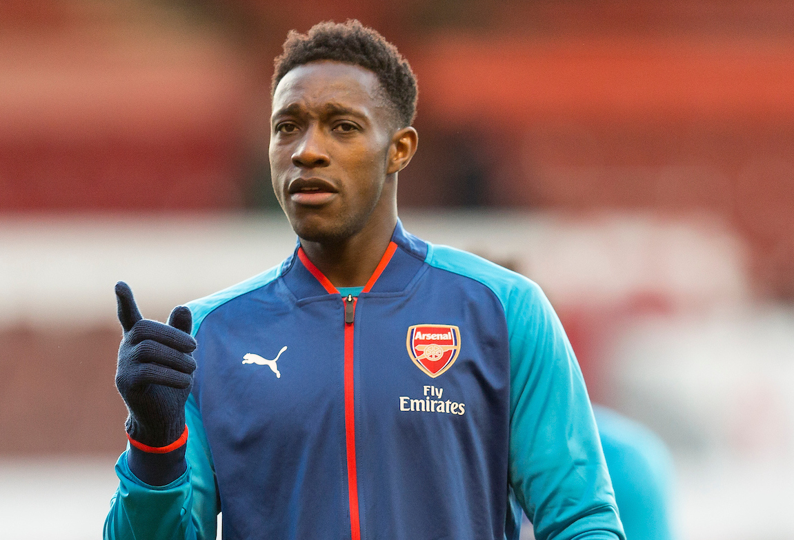 Danny Welbeck of Arsenal warming up before the Third Round FA Cup match at the City Ground, Nottingham Picture by James Wilson/Focus Images Ltd 07522 978714?? 07/01/2018