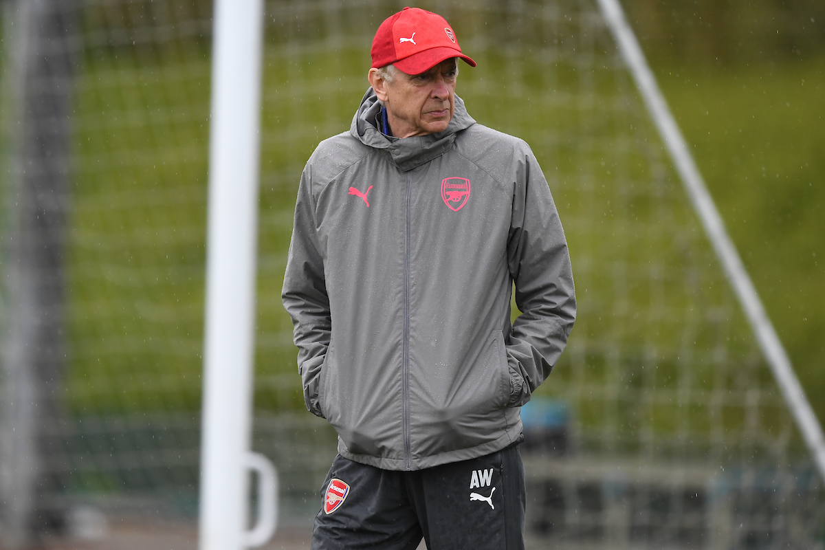 Arsène Wenger manager during the Arsenal training session at Colney Training Centre, Colney Picture by Simon Dael/Focus Images Ltd 07866 555979 02/05/2018