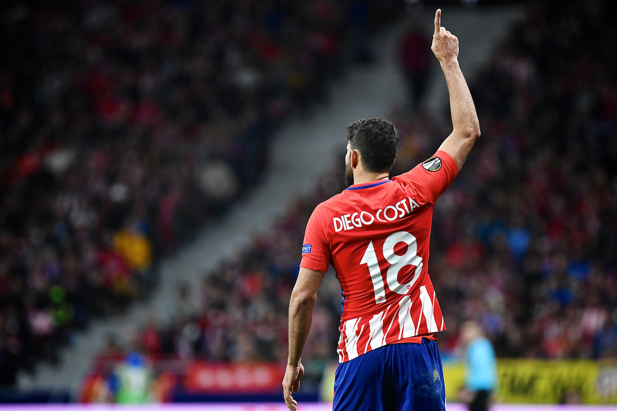 Diego Costa of Atletico Madrid during the UEFA Europa League Semi-Final match at the Wanda Metropolitano Stadium, Madrid Picture by Kristian Kane/Focus Images Ltd +44 7814 482222 03/05/2018