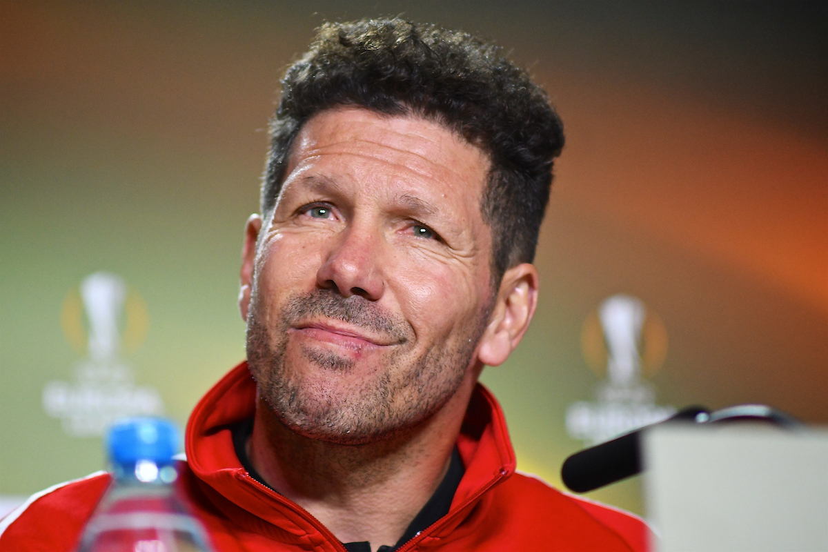 Atletico Madrid manager Diego Simeone during the Atletico Madrid Press Conference at the Wanda Metropolitano Stadium, Madrid Picture by Kristian Kane/Focus Images Ltd +44 7814 482222 02/05/2018