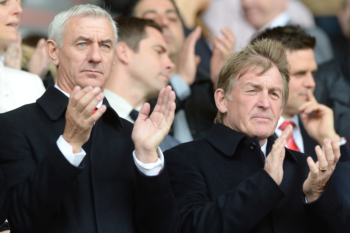 Former Liverpool players Ian Rush (left) and Kenny Dalglish ahead of the Barclays Premier League match at Anfield, Liverpool Picture by Ian Wadkins/Focus Images Ltd +44 7877 568959 30/03/2014