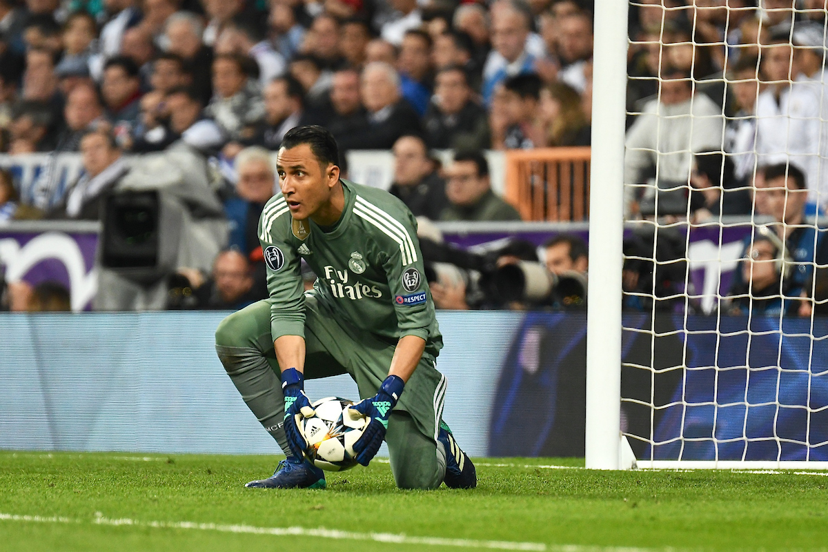 Real Madrid goalkeeper Keylor Navas during the UEFA Champions League Semi-Final match at the Estadio Santiago Bernabeu, Madrid Picture by Kristian Kane/Focus Images Ltd +44 7814 482222 01/05/2018