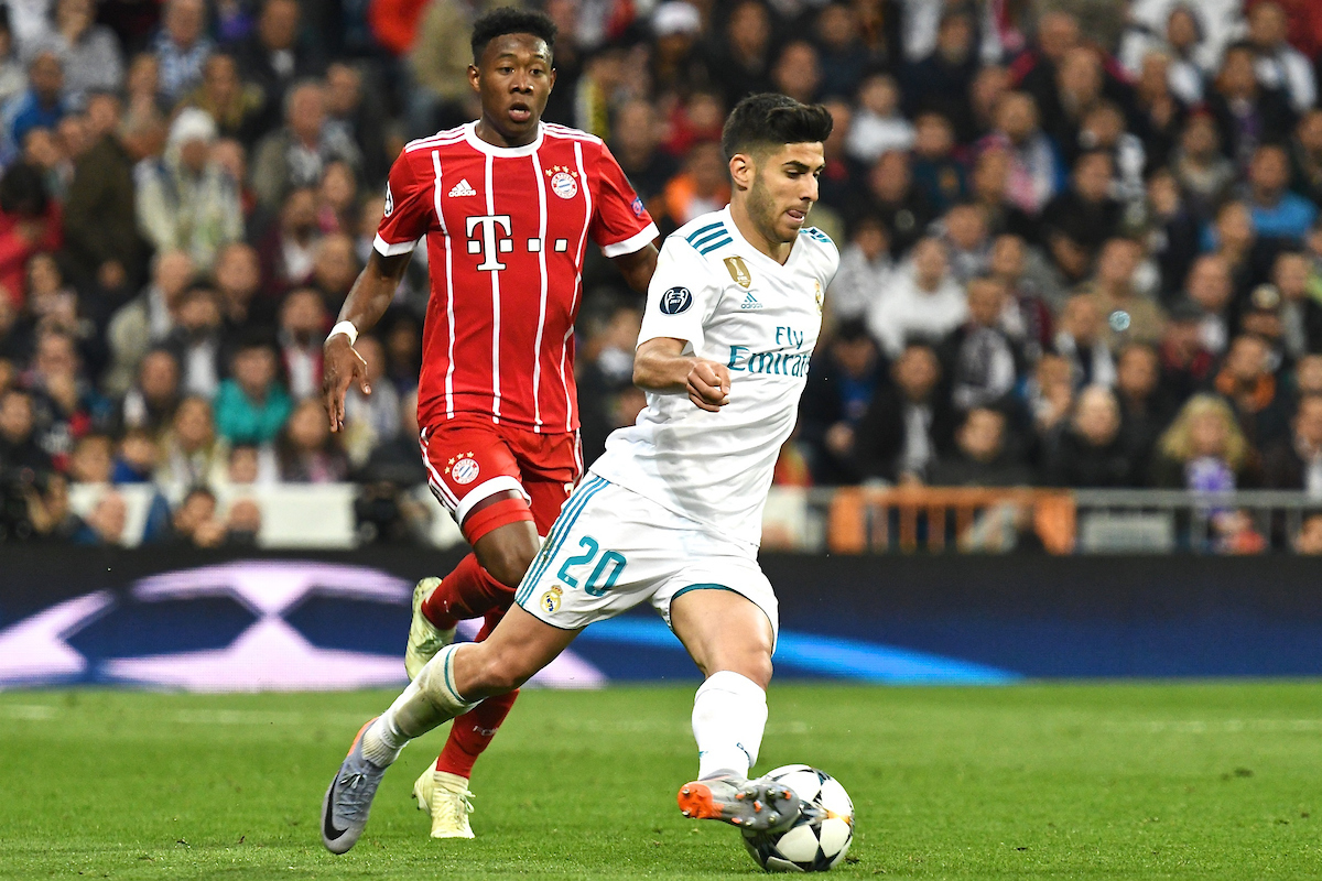 Marco Asensio of Real Madrid during the UEFA Champions League Semi-Final match at the Estadio Santiago Bernabeu, Madrid Picture by Kristian Kane/Focus Images Ltd +44 7814 482222 01/05/2018