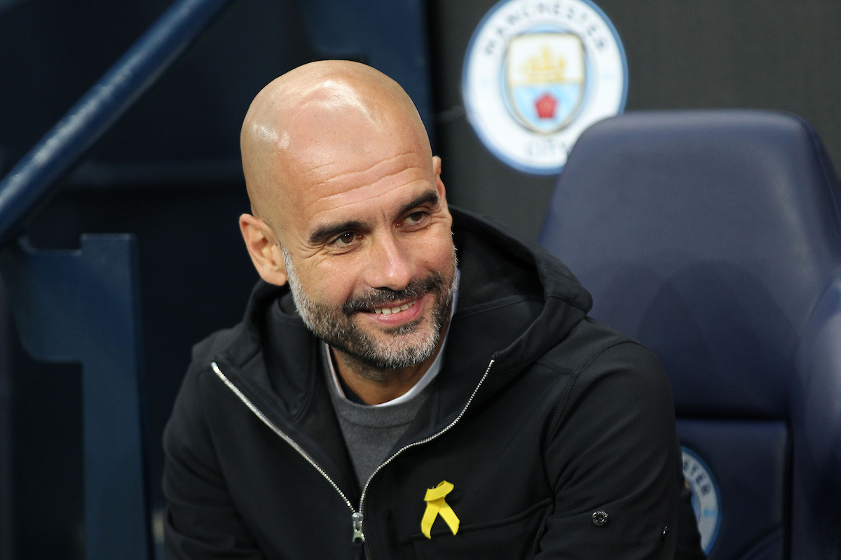 Pep Guardiola, manager of Manchester City on the touchline prior to the UEFA Champions League Quarter Final match against Liverpool at the Etihad Stadium, Manchester. Picture by Michael Sedgwick/Focus Images Ltd +44 7900 363072 10/04/2018