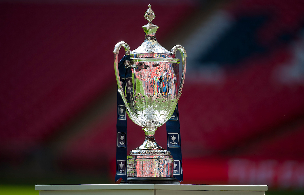 The trophy before the FA Vase Final at Wembley Stadium, London Picture by Jack Megaw/Focus Images Ltd +44 7481 764811 09/05/2015