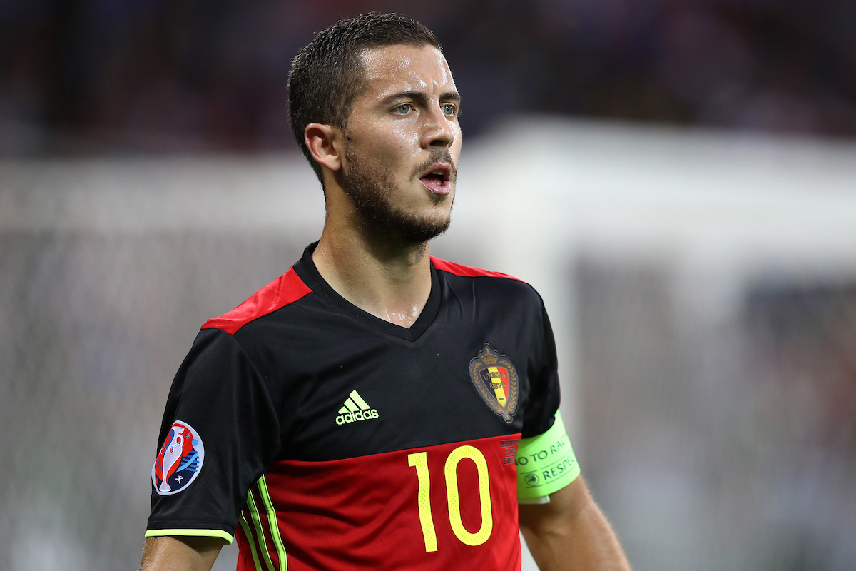 Eden Hazard of Belgium during the UEFA Euro 2016 match at Stade de Lyons, Lyons Picture by Paul Chesterton/Focus Images Ltd +44 7904 640267 13/06/2016