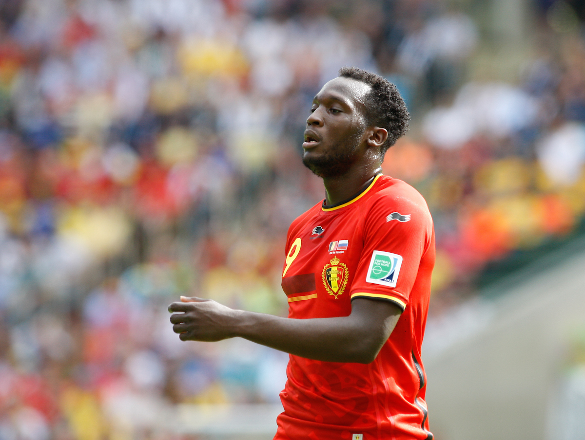 Romelu Lukaku of Belgium looks on during the 2014 FIFA World Cup match at Maracana Stadium, Rio de Janeiro, Brazil.  Picture by Andrew Tobin/Focus Images Ltd +44 7710 761829 22/06/2014