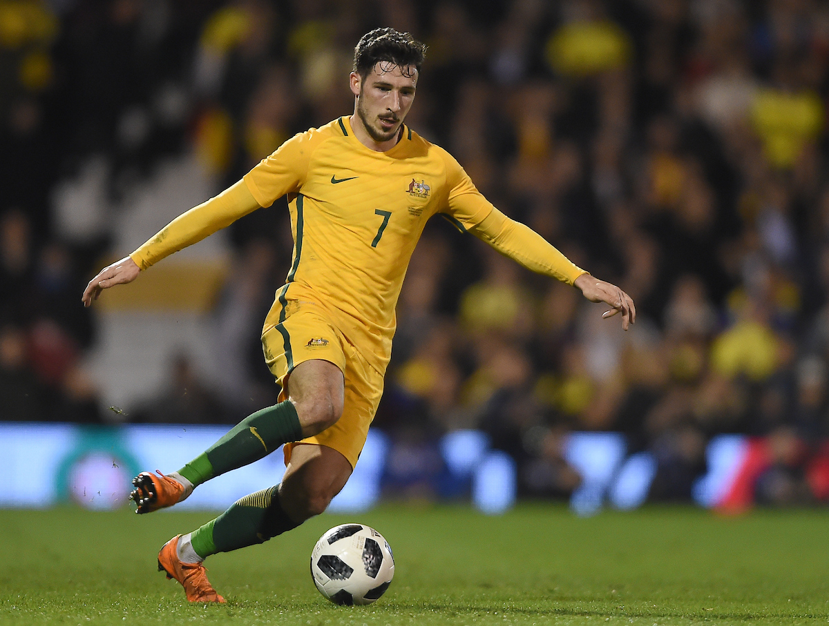 Mathew Leckie of Australia during the International Friendly match at Craven Cottage, London Picture by Daniel Hambury/Focus Images Ltd 07813022858 27/03/2018