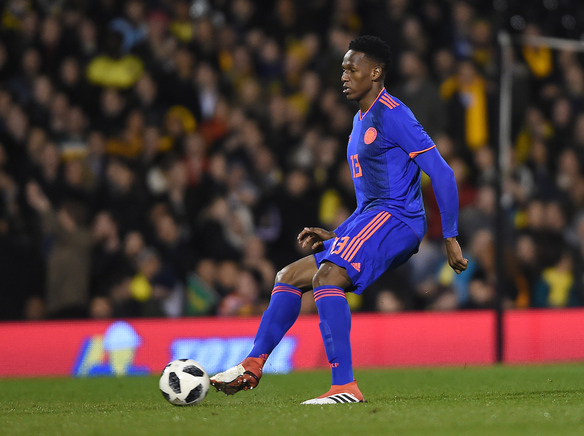 Yerry Mina of Colombia during the International Friendly match at Craven Cottage, London Picture by Daniel Hambury/Focus Images Ltd 07813022858 27/03/2018