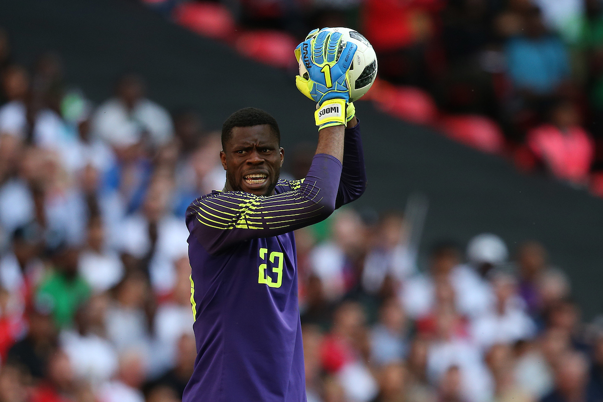 Francis Uzoho of Nigeria during the International Friendly match at Wembley Stadium, London Picture by Paul Chesterton/Focus Images Ltd +44 7904 640267 02/06/2018