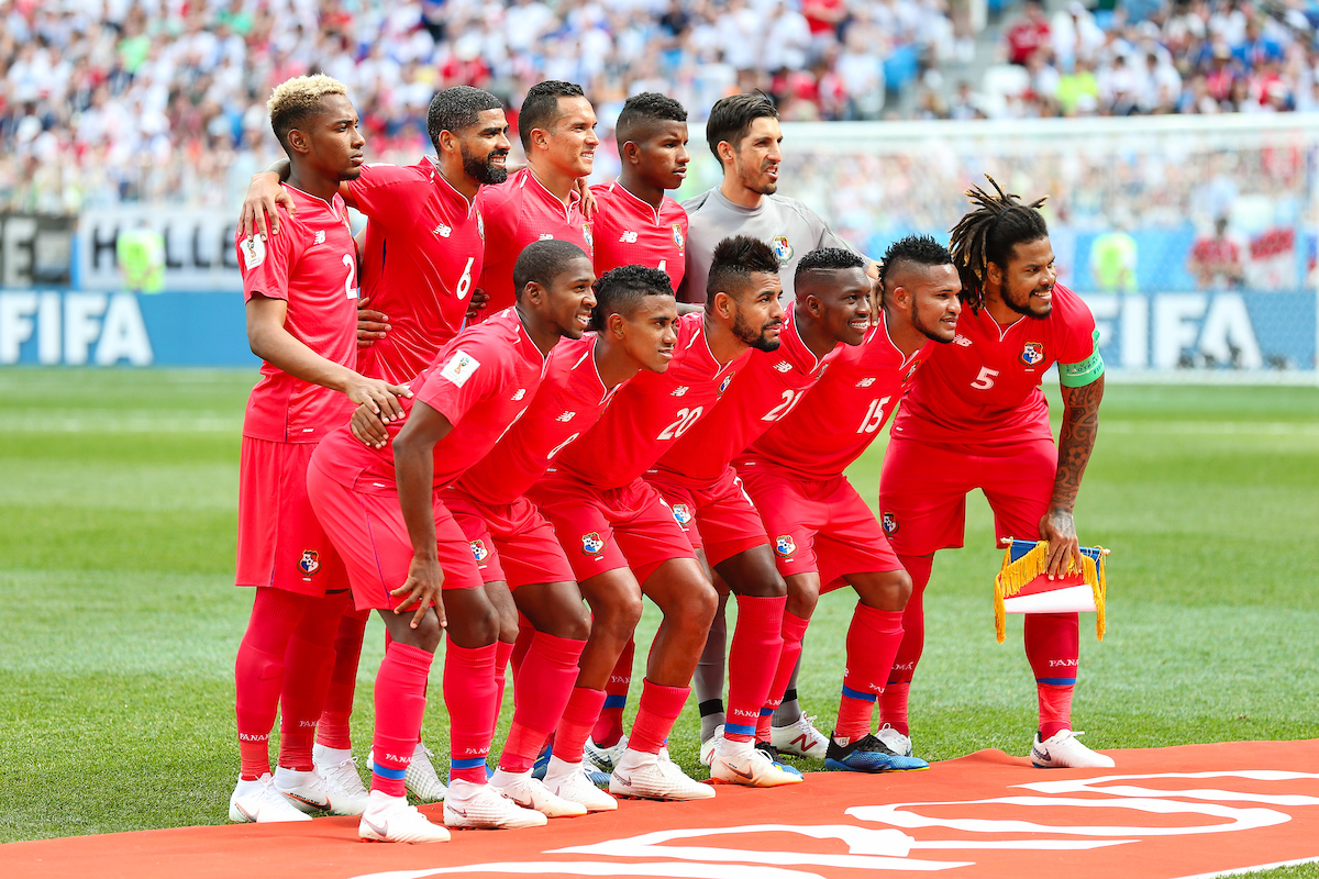 Panama line up before the England v Panama 2018 FIFA World Cup match at Nizhny Novgorod Stadium, Nizhny Novgorod Picture by Paul Chesterton/Focus Images Ltd +44 7904 640267 24/06/2018