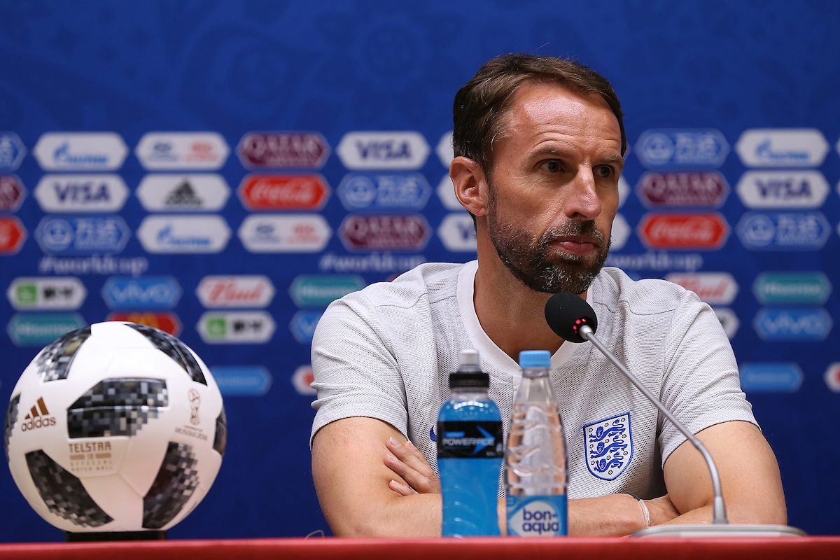 England Manager Gareth Southgate during the England press conference at Kaliningrad Stadium, Kaliningrad Picture by Paul Chesterton/Focus Images Ltd +44 7904 640267 27/06/2018