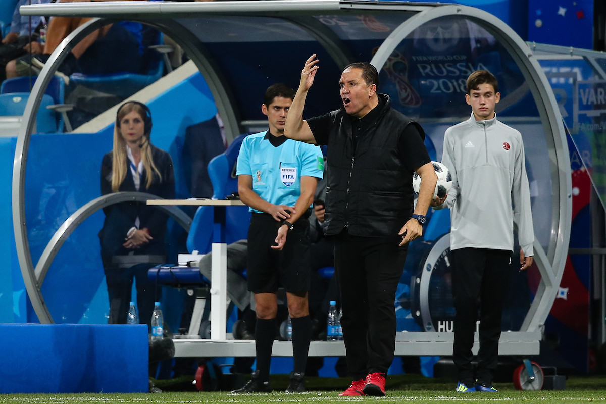 Nabil Maâloul manager of Tunisia during the England v Tunisia 2018 FIFA World Cup match at Volgograd Arena, Volgograd Picture by Paul Chesterton/Focus Images Ltd +44 7904 640267 18/06/2018