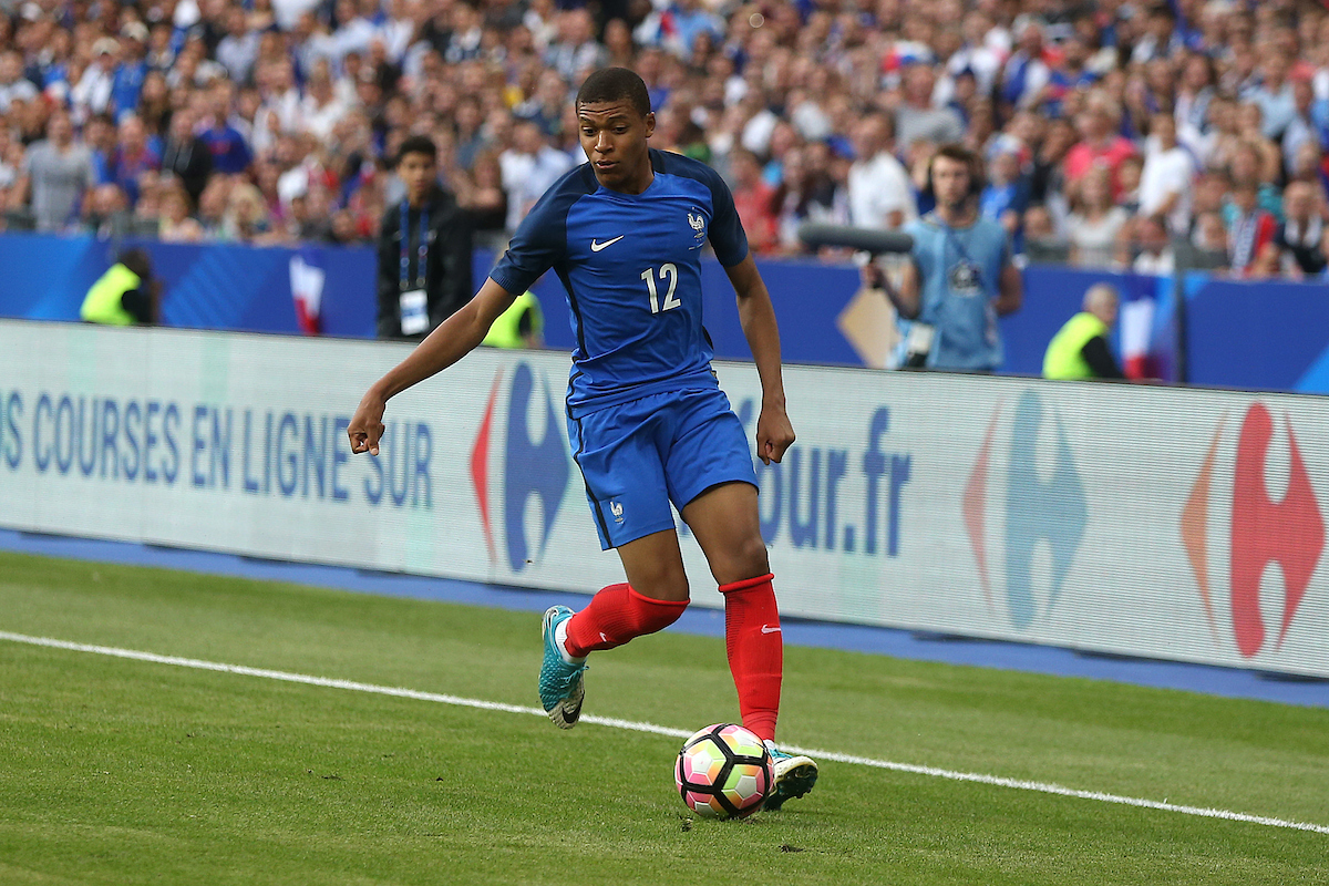 Kylian Mbappe of France in action during the International Friendly match at Stade de France, Paris Picture by Paul Chesterton/Focus Images Ltd +44 7904 640267 13/06/2017