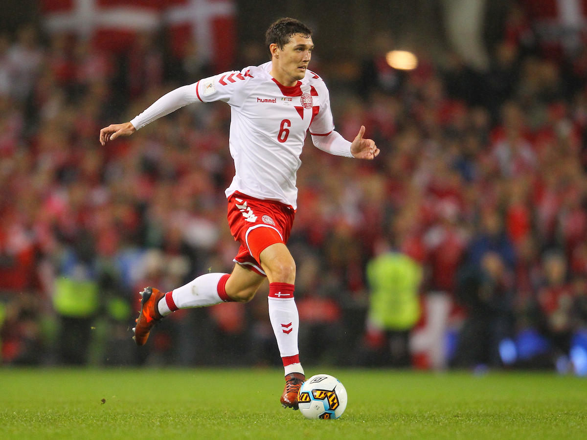 Andreas Christensen of Denmark during the 2018 FIFA World Cup Qualifying match at the Aviva Stadium, Dublin Picture by Yannis Halas/Focus Images Ltd +353 8725 82019 14/11/2017