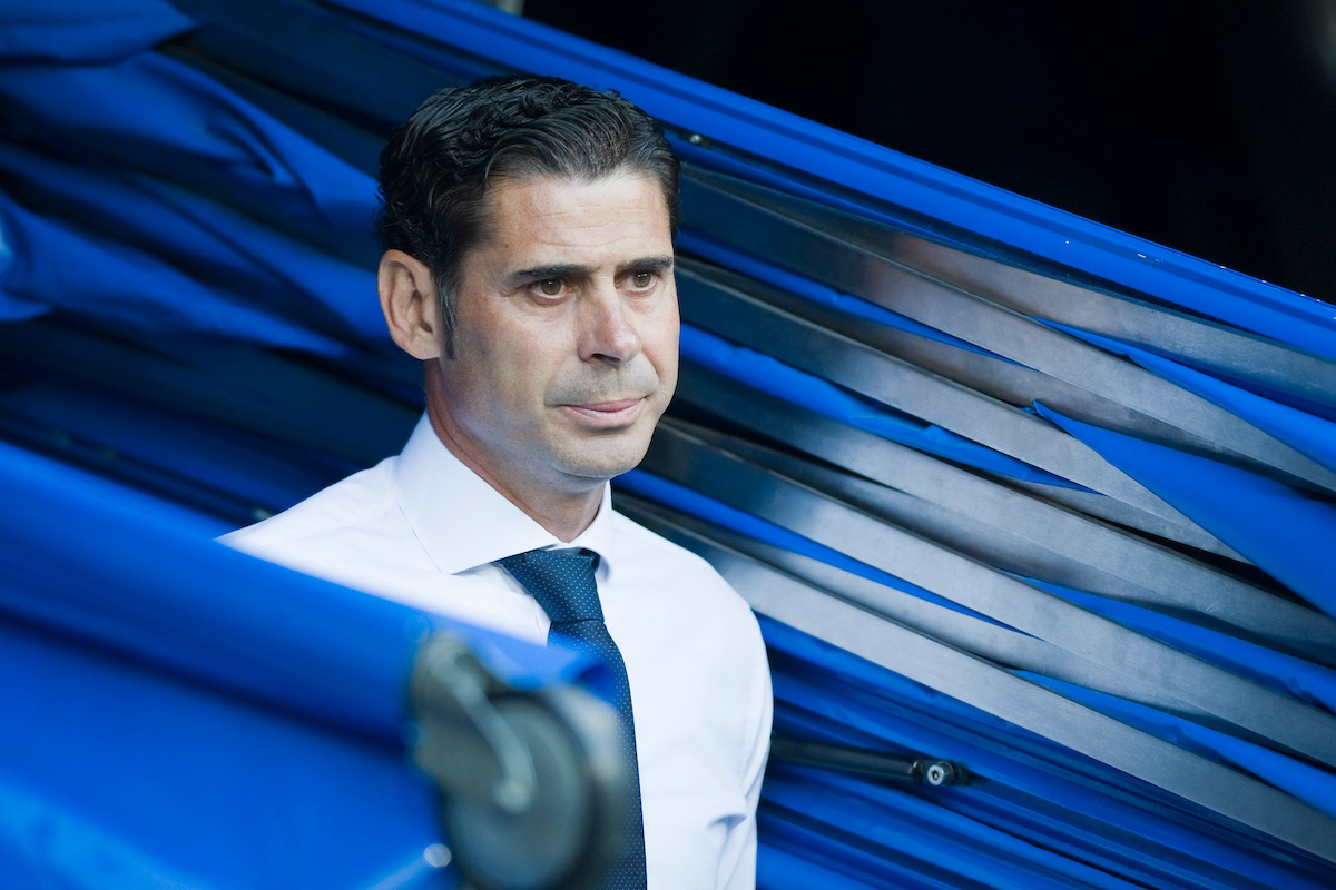 Fernando Hierro, former player of Real Madrid and now as sport director of the team during the La Liga match at the Estadio Santiago Bernabeu, Madrid Picture by Marcos Calvo Mesa/Focus Images Ltd +34 654142934 25/08/2014
