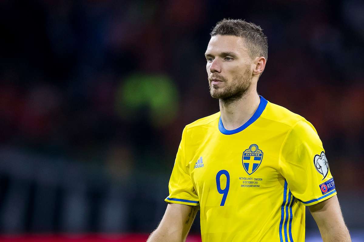 Marcus Berg of Sweden during the 2018 FIFA World Cup Qualifying match at Amsterdam Arena, Amsterdam Picture by Joep Joseph Leenen/Focus Images Ltd +316 5261929 10/10/2017 ***NETHERLANDS OUT***