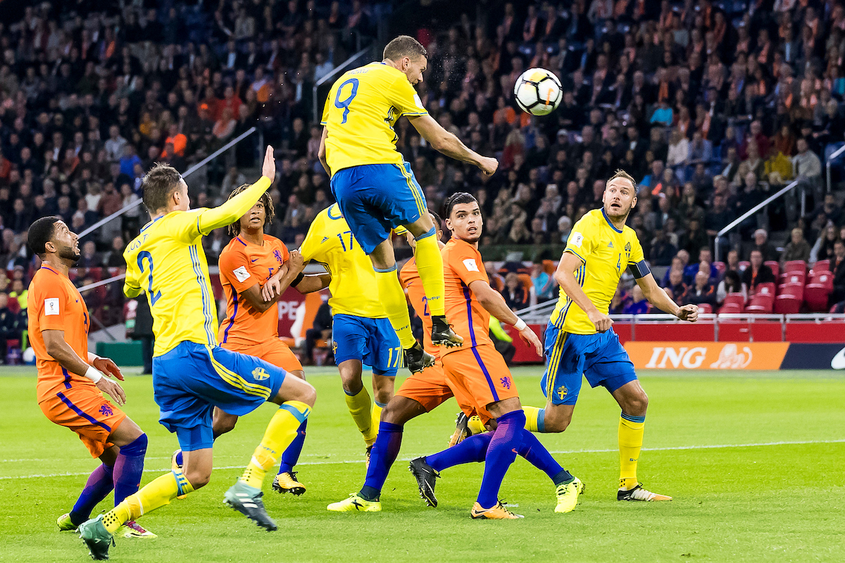 Marcus Berg of Sweden (M) during the 2018 FIFA World Cup Qualifying match at Amsterdam Arena, Amsterdam Picture by Joep Joseph Leenen/Focus Images Ltd +316 5261929 10/10/2017 ***NETHERLANDS OUT***
