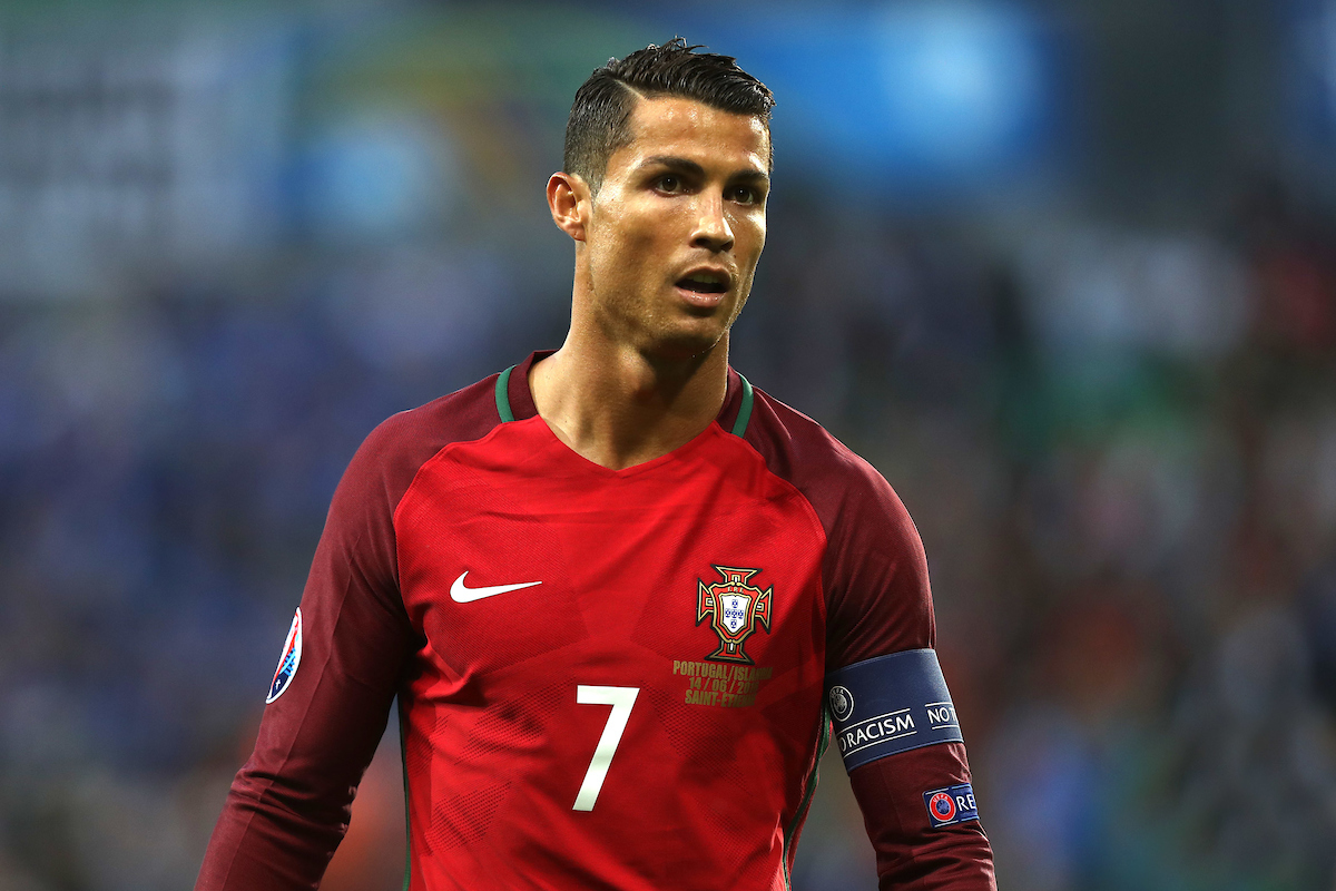 Cristiano Ronaldo of Portugal during the UEFA Euro 2016 match at Stade Geoffroy-Guichard, Saint-Étienne, France.  Picture by Paul Chesterton/Focus Images Ltd +44 7904 640267 14/06/2016