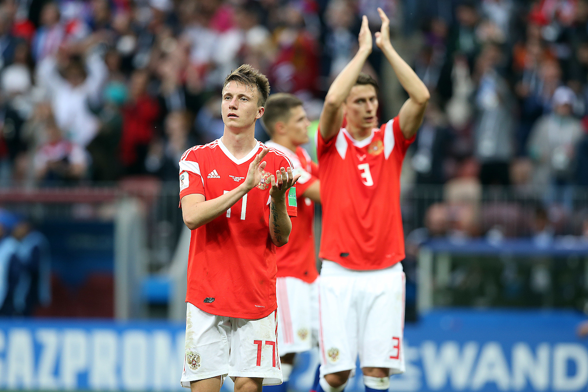 Golovin y Kutepov no estarán en el estreno de Rusia en la UEFA Nations League. Foto: Focus Images Ltd.
