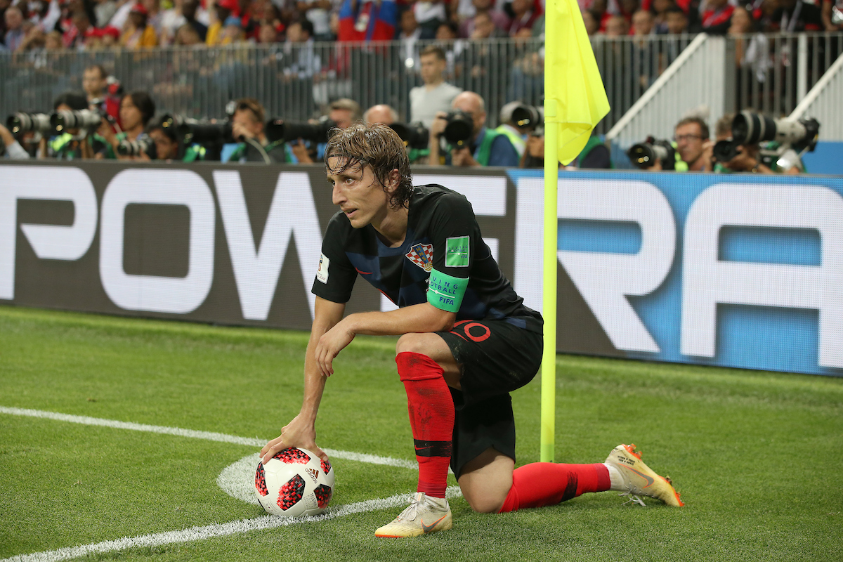 Luka Modric of Croatia during the 2018 FIFA World Cup match at Luzhniki Stadium, Moscow Picture by Paul Chesterton/Focus Images Ltd +44 7904 640267 11/07/2018