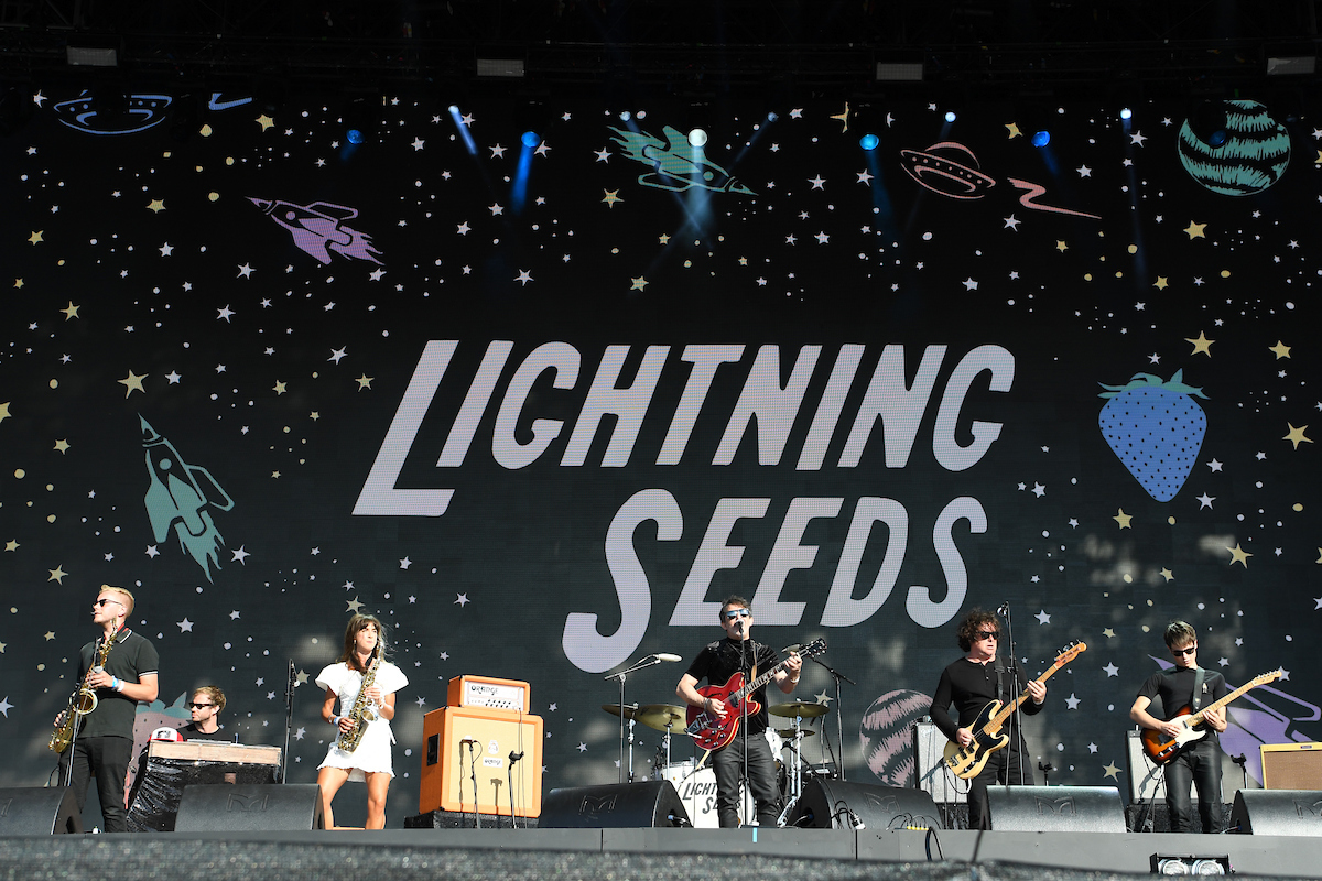 The lightening Seeds at British Summer Time Hyde Park watching the FIFA World Cup semi final. Picture by Simon Dael/Focus Images Ltd 07866 555979 11/07/2018