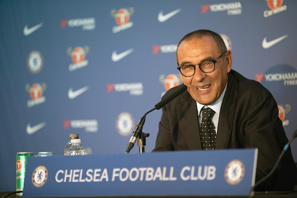 Manager of Chelsea Maurizio Sarri, pictured during a press conference for his unveiling at Stamford Bridge, London Picture by Romena Fogliati/Focus Images Ltd 07576143919 17/07/2018