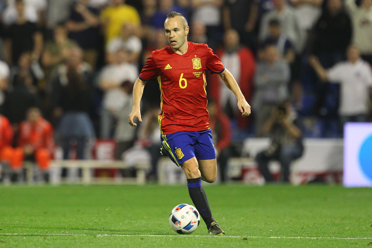 Andres Iniesta of Spain in action during the International Friendly match at Estadio José Rico Pérez, Alicante Picture by Paul Chesterton/Focus Images Ltd +44 7904 640267 13/11/2015