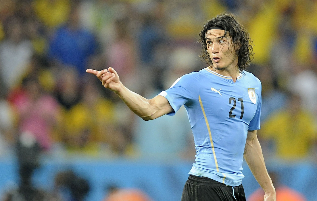 Edinson Cavani of Uruguay during the 2014 FIFA World Cup match at Maracana Stadium, Rio de Janeiro Picture by Stefano Gnech/Focus Images Ltd +39 333 1641678 28/06/2014