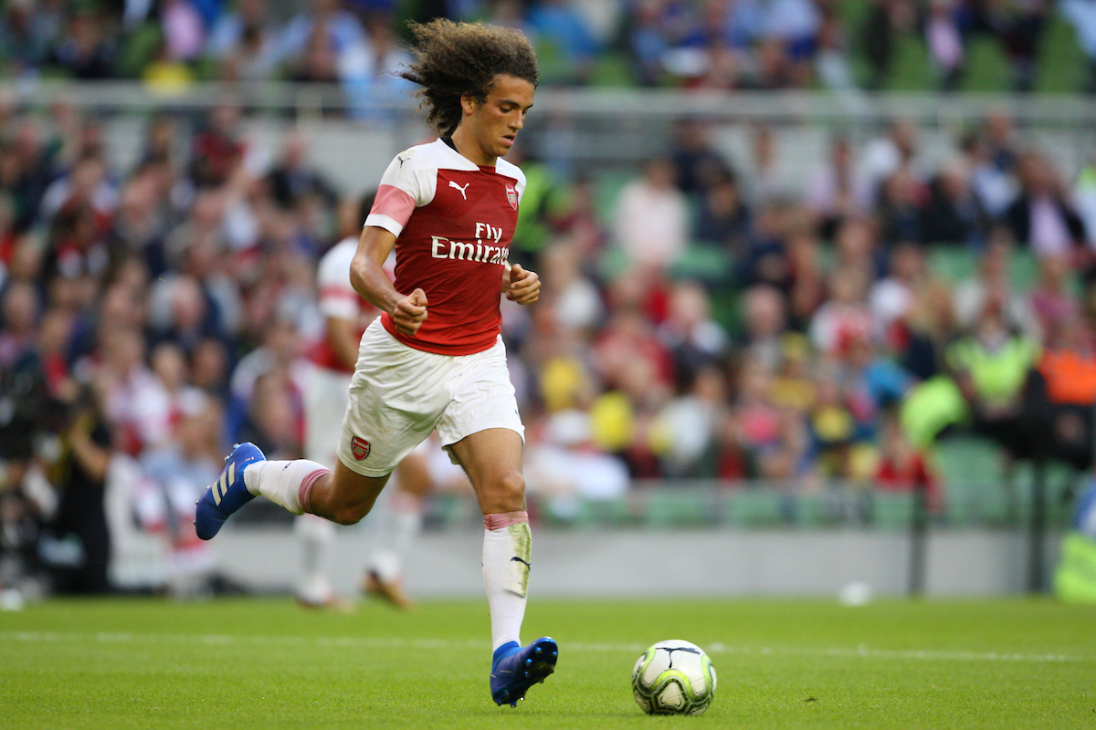 Matteo Guendouzi of Arsenal during the International Champions Cup match at the Aviva Stadium, Dublin Picture by Yannis Halas/Focus Images Ltd +353 8725 82019 01/08/2018