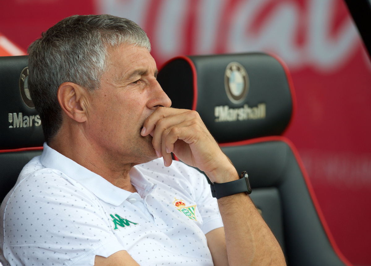Manager Quique Setien of Real Betis during the Pre-season Friendly match at the Vitality Stadium, Bournemouth Picture by Alan Stanford/Focus Images Ltd +44 7915 056117 03/08/2018