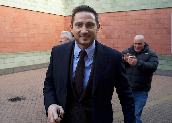 Former Chelsea player Frank Lampard arriving for the Premier League match at Stamford Bridge, London Picture by Alan Stanford/Focus Images Ltd +44 7915 056117 11/12/2016