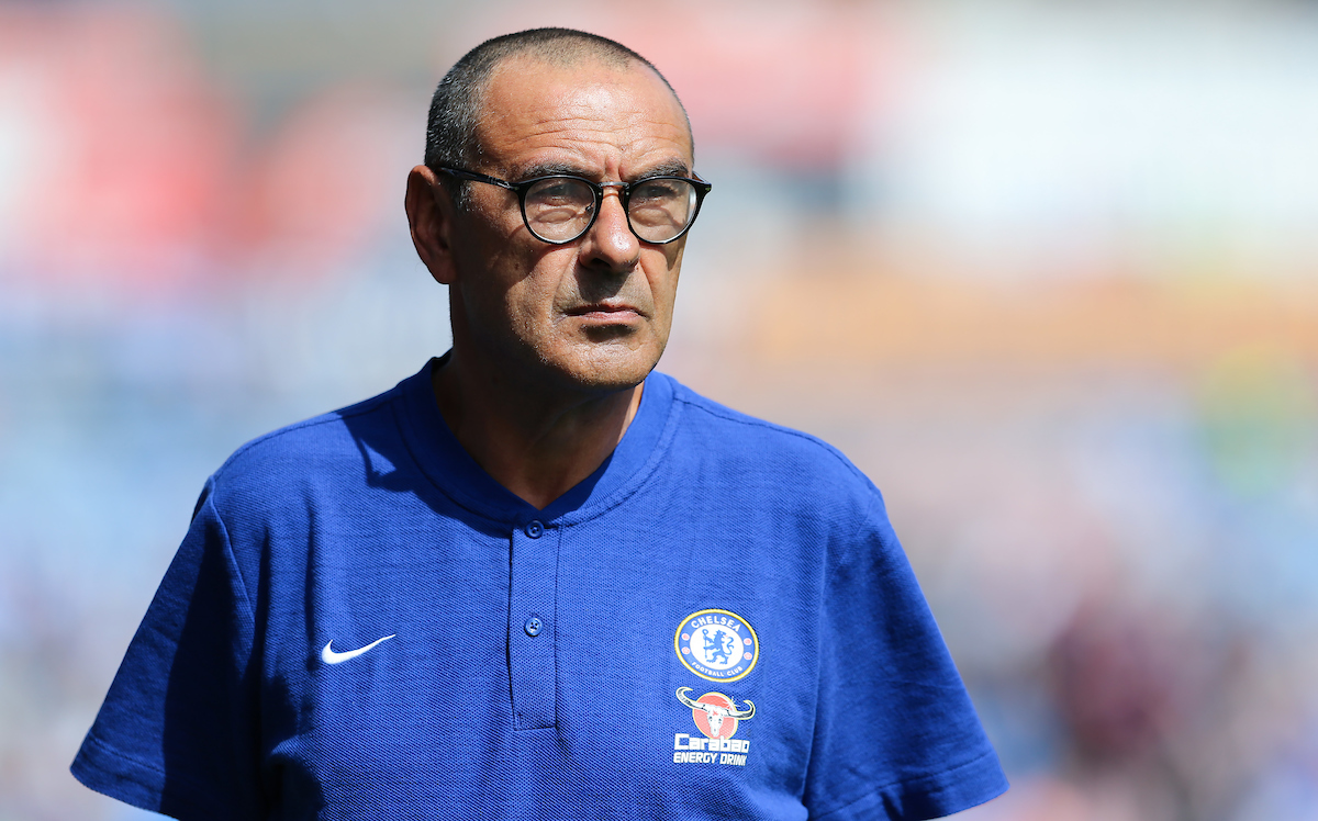 Maurizio Sarri of Chelsea during the Premier League match at the John Smiths Stadium, Huddersfield Picture by James Wilson/Focus Images Ltd 07522 978714‬‬ 11/08/2018