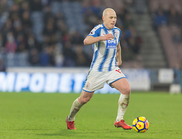 Aaron Mooy of Huddersfield Town runs with the ball during the Premier League match at the John Smiths Stadium, Huddersfield Picture by James Wilson/Focus Images Ltd 07522 978714?? 13/01/2018