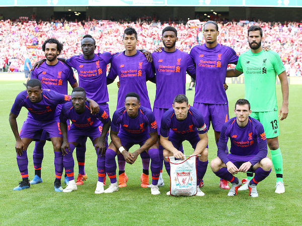 Liverpool team photo during the friendly match at the Aviva Stadium, Dublin Picture by Yannis Halas/Focus Images Ltd +353 8725 82019 04/08/2018