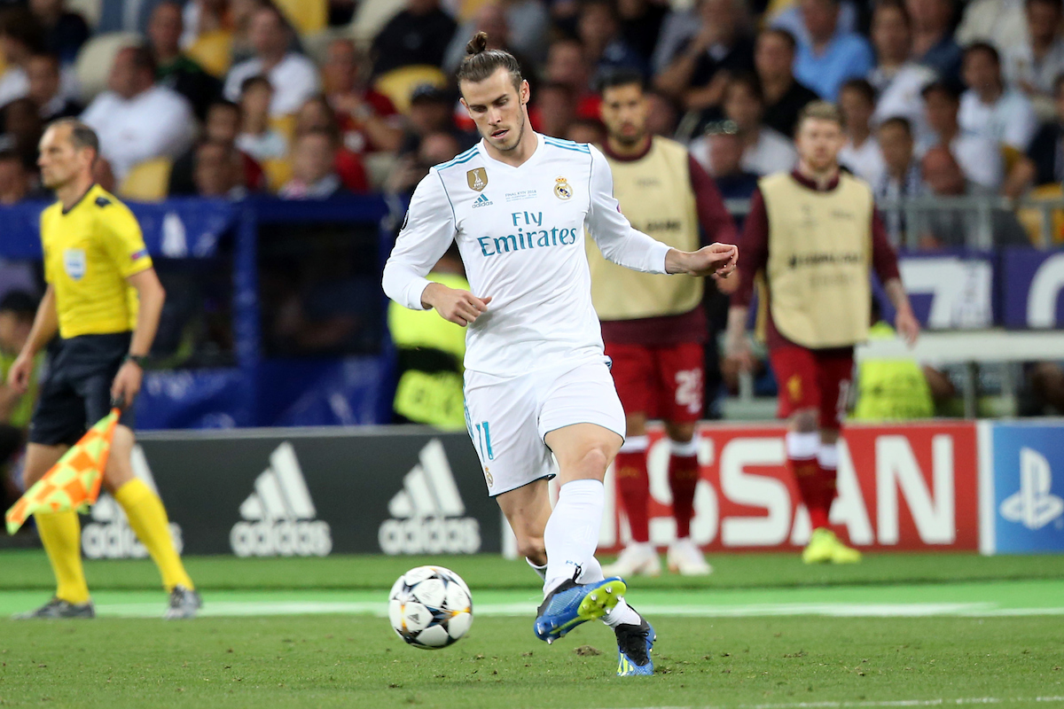 Gareth Bale of Real Madrid in action during the UEFA Champions League Final at the Olympic Stadium, Kiev Picture by Paul Chesterton/Focus Images Ltd +44 7904 640267 26/05/2018