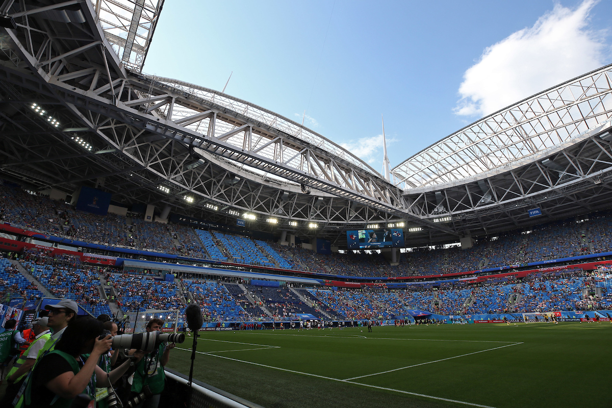 General view of the stadium before the 2018 FIFA World Cup 3rd/4th Play Off match at St Petersburg Stadium, St Petersburg Picture by Paul Chesterton/Focus Images Ltd +44 7904 640267 14/07/2018