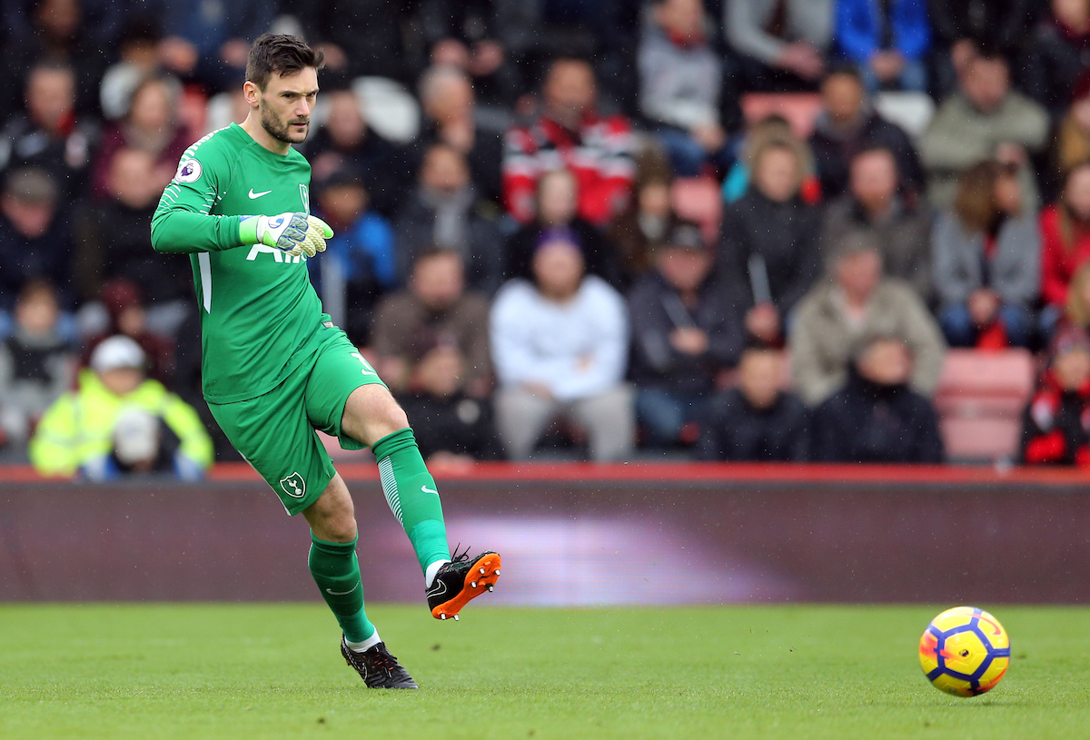 Hugo Lloris of Tottenham Hotspur during the Premier League match at the Vitality Stadium, Bournemouth Picture by Simon Moore/Focus Images Ltd 07807 671782 11/03/2018