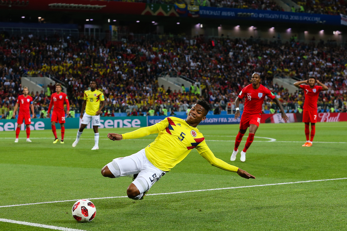 Wílmar Barrios of Colombia during the 2018 FIFA World Cup match at Spartak Stadium, Moscow Picture by Paul Chesterton/Focus Images Ltd +44 7904 640267 03/07/2018