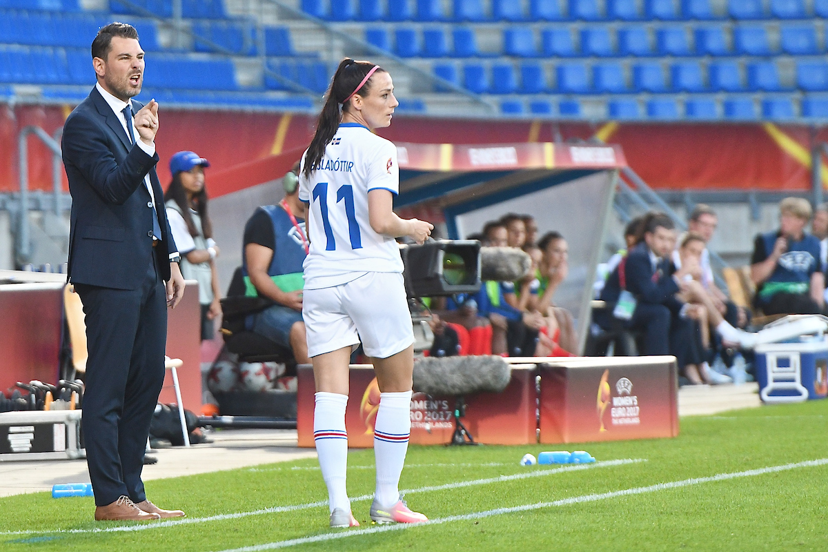 Iceland manager Freyr Alexandersson during the UEFA Women's Euros 2017 match at Koning Willem II Stadion, Tilburg Picture by Kristian Kane/Focus Images Ltd +44 7814 482222 18/07/2017