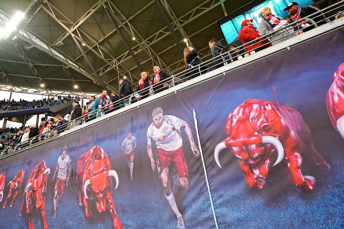 General view of the stadium showing RB Leipzig fans pictured ahead of the Bundesliga match at Red Bull Arena, Leipzig Picture by Kristian Kane/Focus Images Ltd +44 7814 482222 25/11/2017