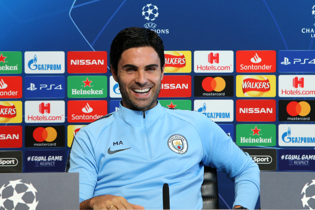 Mikel Arteta of Manchester City speaks during a press conference at City Football Academy, Manchester Picture by Steve McCormick/Focus Images Ltd 07545 862647 18/09/2018