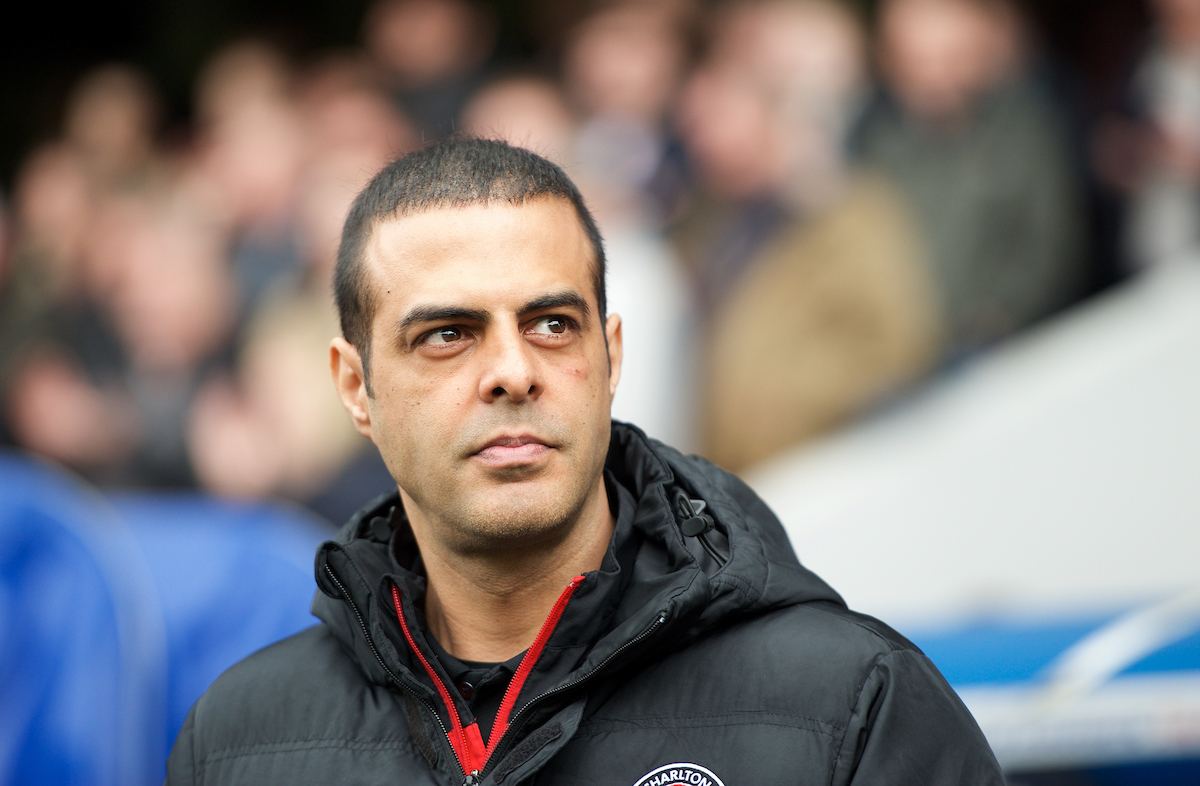Manager Guy Luzon of Charlton Athletic during the Sky Bet Championship match at The Den, London Picture by Alan Stanford/Focus Images Ltd +44 7915 056117 03/04/2015