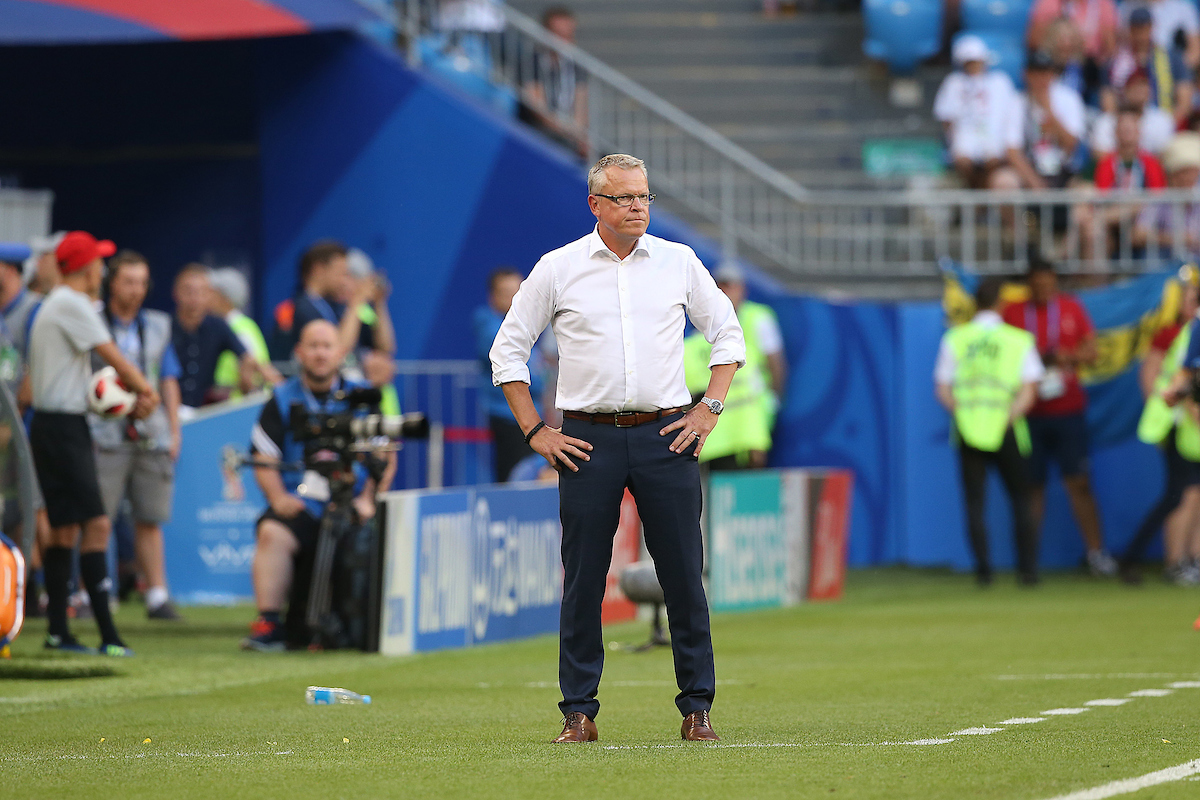 Sweden Manager Janne Andersson during the 2018 FIFA World Cup Quarter-Final match at Samara Arena, Samara Picture by Paul Chesterton/Focus Images Ltd +44 7904 640267 07/07/2018