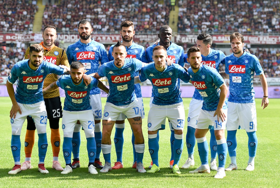 Napoli team line up during the Serie A match at Stadio Olimpico di Torino, Turin Picture by Antonio Polia/Focus Images Ltd +393473147935 23/09/2018