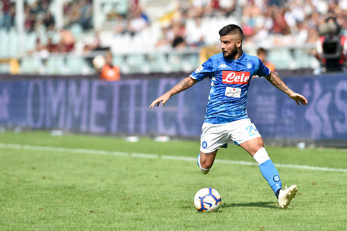 Lorenzo Insigne during the Serie A match at Stadio Olimpico di Torino, Turin Picture by Antonio Polia/Focus Images Ltd +393473147935 23/09/2018
